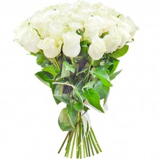 Букет из 25 белых роз